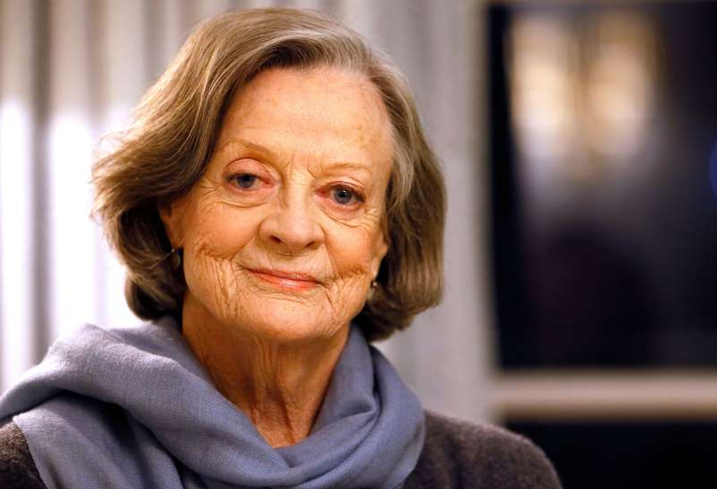 a close up of Maggie Smith: Dame Maggie Smith