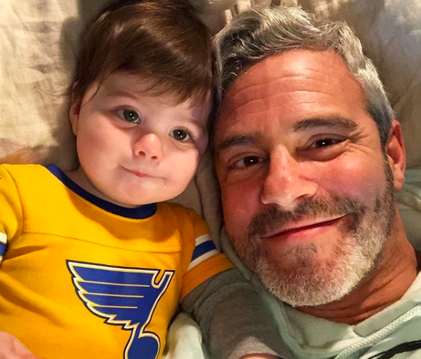 Andy Cohen smiling for the camera: Andy Cohen and Benjamin Cohen on Instagram.