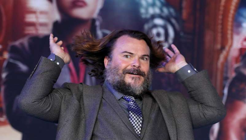 Cast member Jack Black poses at the premiere for the film