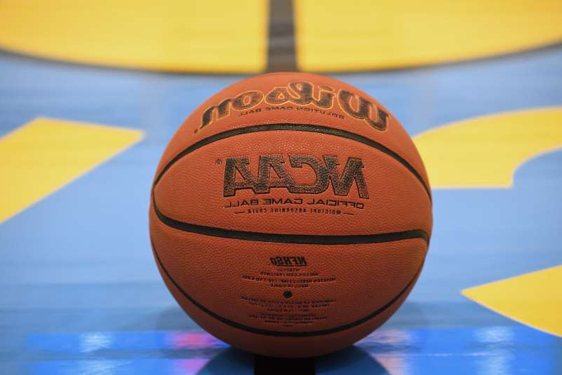 LOS ANGELES, CA - OCTOBER 10: An official NCAA Wilson basketball rests on the UCLA Bruins basketball practice court at the Mo Ostin Basketball Center on October 10, 2019 in Los Angeles, California. (Photo by Jayne Kamin-Oncea/Getty Images)