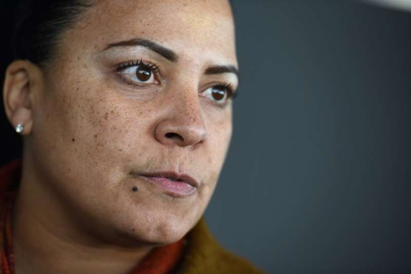 a close up of a man looking at the camera: Suffolk District Attorney Rachael Rollins. (Photo By Faith Ninivaggi/ MediaNews Group/BostonHerald)