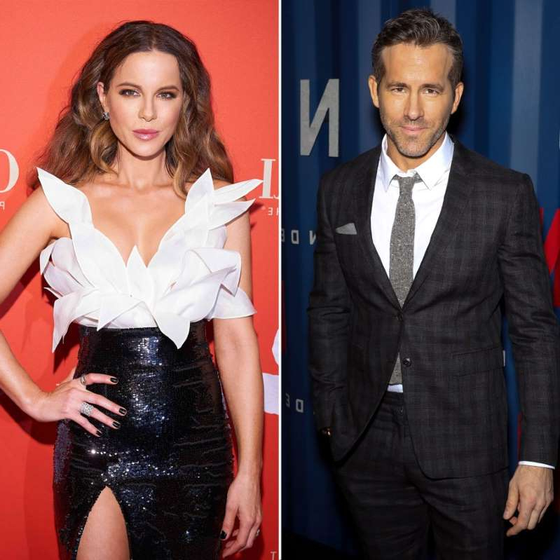 Ryan Reynolds, Kate Beckinsale are posing for a picture: Ryan Reynolds and Kate Beckinsale.
