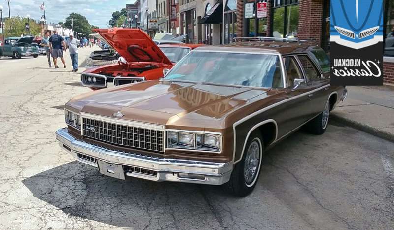 a car parked in a parking lot: 1976 Chevrolet Caprice