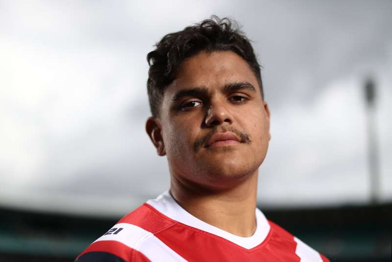 SYDNEY, AUSTRALIA - SEPTEMBER 30: Latrell Mitchell of the Roosters poses during a Sydney Roosters NRL Media Opportunity at the Sydney Cricket Ground on September 30, 2019 in Sydney, Australia. (Photo by Mark Metcalfe/Getty Images)