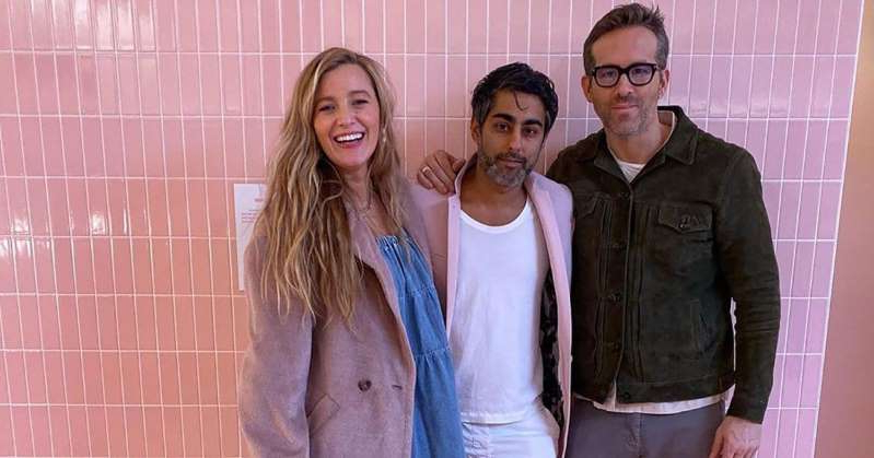 Ryan Reynolds, Blake Lively posing for the camera: Blake Lively and Ryan Reynolds Visit the Museum of Ice Cream: 'Now I Get Why Everyone Screams'