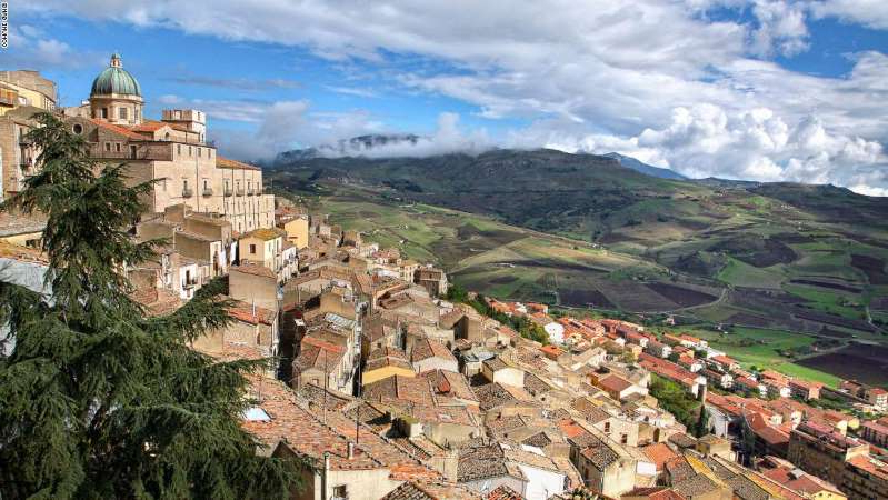 a view of a city: Gangi is known as one of Italy's most beautiful villages.