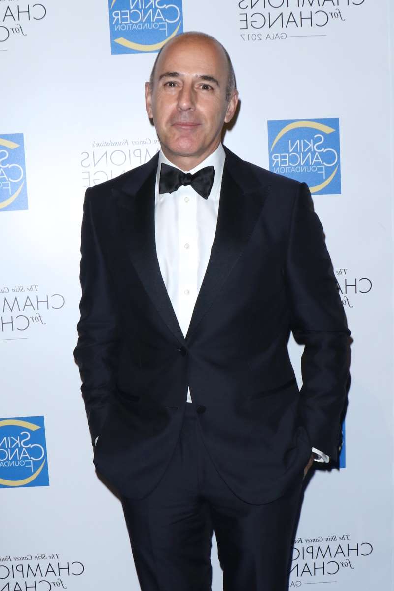 Matt Lauer wearing a suit and tie: Matt Lauer arrives at the Skin Cancer Foundation's Champions for Change gala in New York City on Oct. 17, 2017.