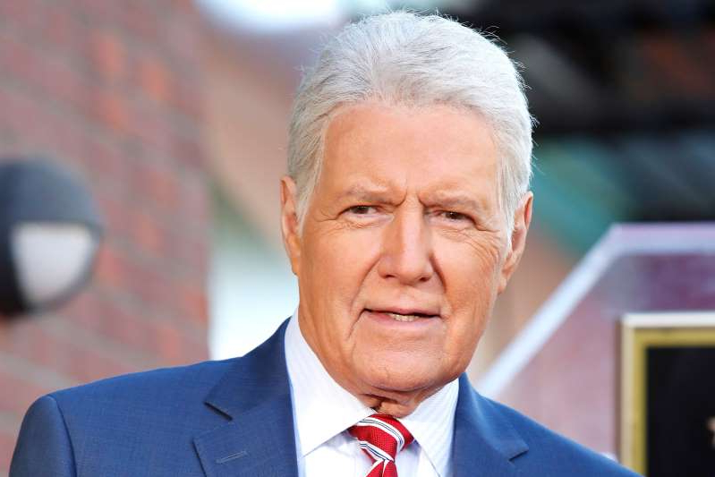 a man wearing a suit and tie: Alex Trebek. Photo: NINA PROMMER/EPA-EFE/Shutterstock