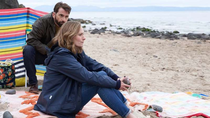 David Tennant sitting on a beach: Deadwater Fell episode 1 review: compelling drama unpicking a tragedy