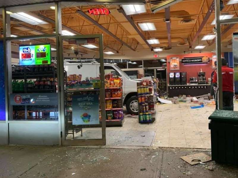 a store inside of a building: A van drove into the Circle K on Stonehaven in Kanata on Jan. 10, 2020. Photo by Sandra Kearney Downs