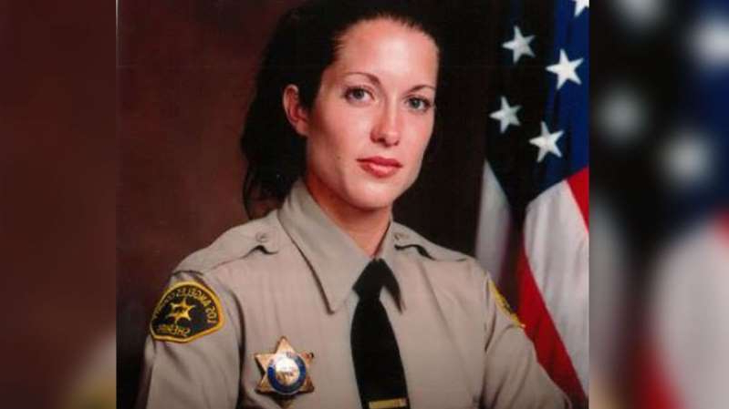a man wearing a black shirt: Los Angeles County Sheriff's Department Det. Amber Leist was killed on Sunday, Jan. 12, 2020, while helping an elderly woman cross the street in Valley Village, California.