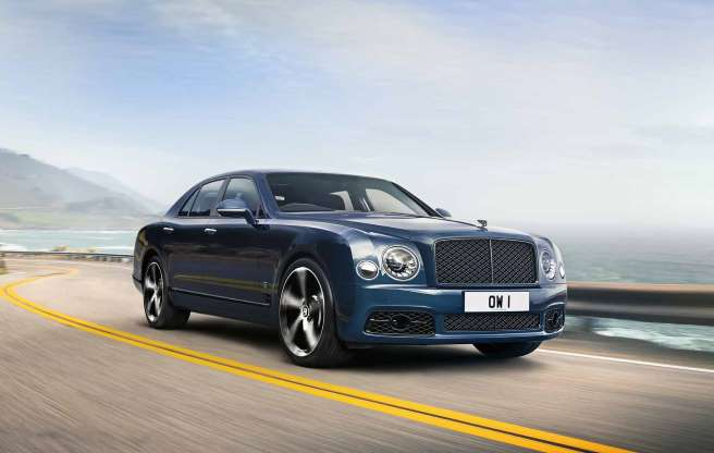 a car parked on the side of a road: New Bentley Mulsanne 6.75 Edition is final outing for iconic V8