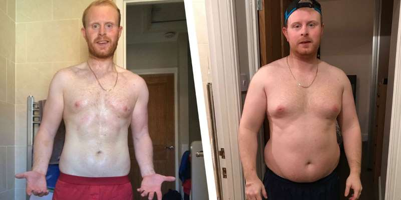 a man standing in front of a mirror posing for the camera: HIIT Workouts Helped This Guy Deal With Depression