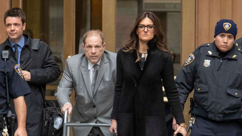 Harvey Weinstein et al. posing for the camera: Harvey Weinstein, second from right, leaving court in Manhattan last week with his lead lawyer, Donna Rotunno, who has steadily built a career defending men accused of sex crimes.