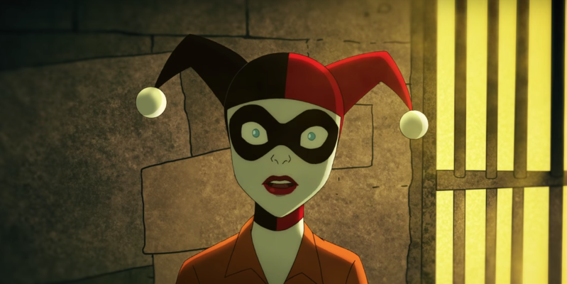 a close up of a mask: DC Universe's adult-orientated Harley Quinn animated series has found itself a home in the UK. And Ruby Rose's Batwoman has, too.