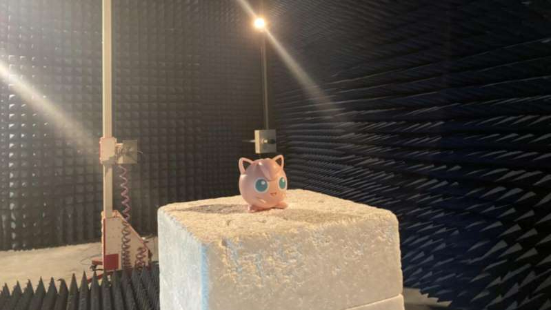Finally, Jigglypuff gets to sing under the lights... of the testing lab.