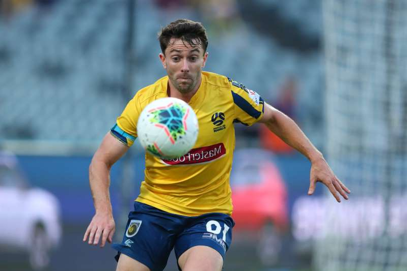 GOSFORD, AUSTRALIA - DECEMBER 22: Tommy Oar of the Central Coast Mariners controls the ball during the round 11 A-League match between the Central Coast Mariners and Adelaide United at Central Coast Stadium on December 22, 2019 in Gosford, Australia. (Photo by Tony Feder/Getty Images)