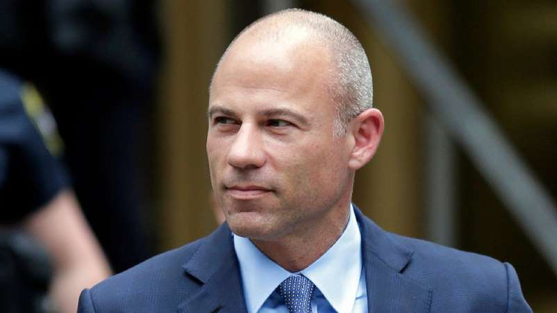 Michael Avenatti wearing a suit and tie: FILE - In this May 28, 2019, file photo, California attorney Michael Avenatti leaves a courthouse in New York following a hearing.