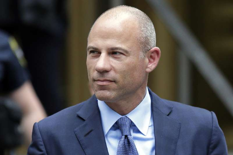Michael Avenatti wearing a suit and tie: In this May 2019 file photo, California attorney Michael Avenatti leaves a courthouse in New York following a hearing.