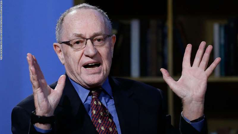Alan Dershowitz wearing a suit and tie: NEW YORK, NY - FEBRUARY 03:  Alan Dershowitz attends Hulu Presents