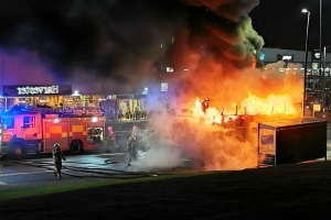 Bus fire at Glasgow's Fort Shopping Centre sees blaze engulf vehicle