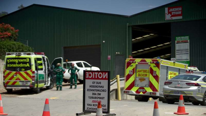 The Adelaide Hills Recycling Centre in Woodside where the man was pinned by his car. (ABC News: Lincoln Rothall)