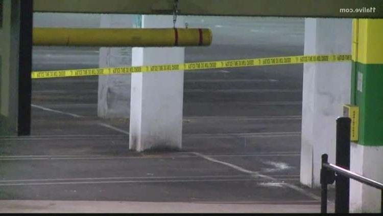 a close up of a gate: Atlanta officer says he was forced to shoot suspect at Lenox Square