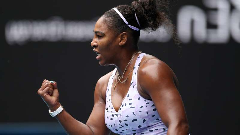 Australian Open 2020: Serena Williams powers through for first-round victory