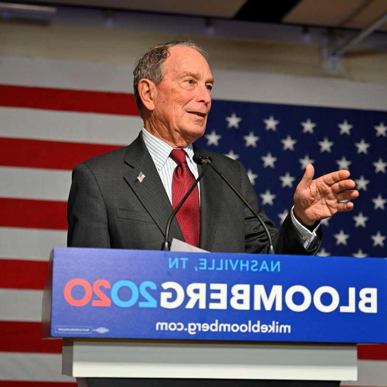Michael Bloomberg wearing a suit and tie: Democratic presidential candidate Bloomberg opens his Tennessee campaign headquarters in Nashville