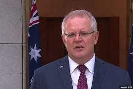Scott Morrison wearing a suit and tie: The Prime Minister outlined new policies to support bushfire victims, including zero-interest loans for small businesses