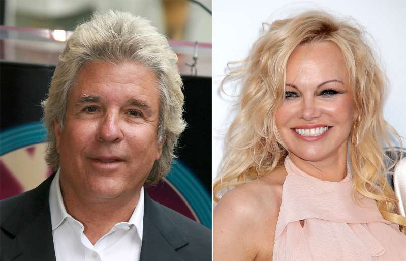 Pamela Anderson, Jon Peters posing for the camera: Photos: Shutterstock