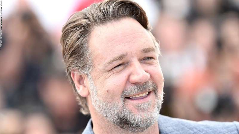 Russell Crowe wearing a suit and tie: Russell Crowe is seen at the Cannes Film Festival in May 2016.