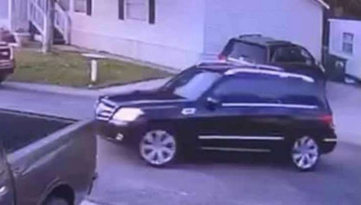 a car parked in a parking lot: Police say surveillance video shows 13-year-old Amberly Nicole Flores