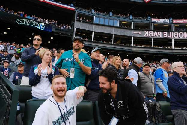Slide 1 of 6: Scenes from the Seattle Mariner's home-opener against the Boston Red Sox at the newly renamed T-Mobile Park, Thursday, March, 28, 2019.