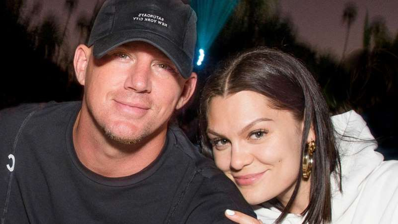 a close up of Jessie J, Channing Tatum posing for the camera