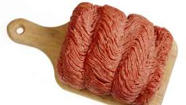a piece of wood: Thin, pliable plastic was reported in the beef by two customers, the department said.