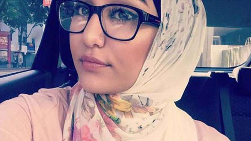 a person wearing glasses taking a selfie: Aya Hishmeh is accused of running down a group of teenagers at a bus stop. (Instagram: @ayahimesh)