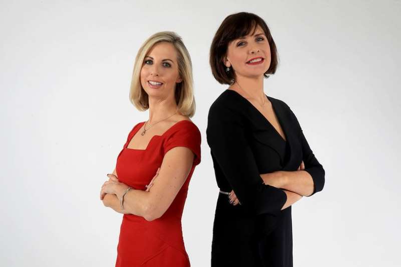 Caitriona Perry posing for a picture: (L-R) Keelin Shanley and Caitriona Perry RTÉ Six One News Presenters Annouced October 2017 - Starting January 2018