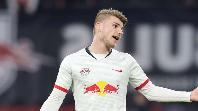 Timo Werner missed a great chance against Bayern Munich