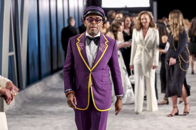 Slide 1 of 105: BEVERLY HILLS, CALIFORNIA - FEBRUARY 09: Spike Lee attends the 2020 Vanity Fair Oscar Party hosted by Radhika Jones at Wallis Annenberg Center for the Performing Arts on February 09, 2020 in Beverly Hills, California.
