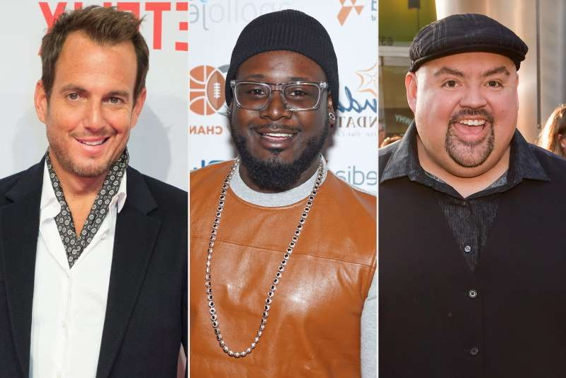 Gabriel Iglesias, T-Pain, Will Arnett posing for the camera: masked-singer