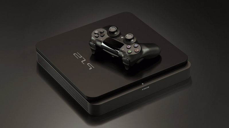 a black camera on a table: Sony PS5 PlayStation 5