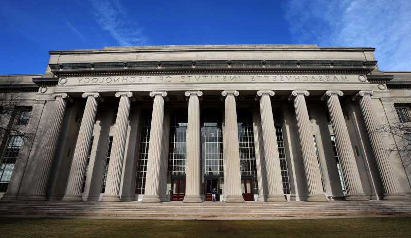 a large white building: MIT in Cambridge.