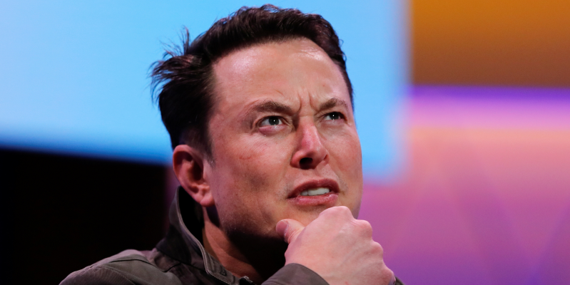Elon Musk with his mouth open