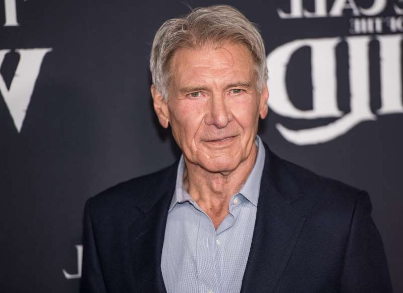 Harrison Ford arrives at the premiere of 20th Century Studios'
