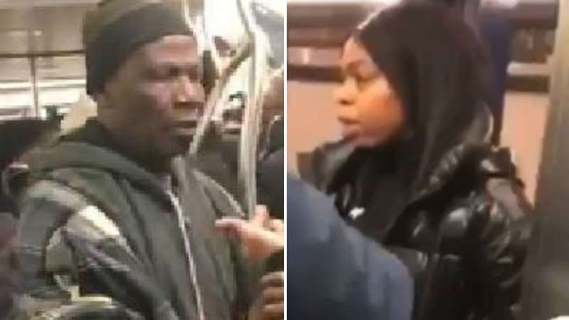 Man, woman threaten each other with knives on crowded subway train in Brooklyn