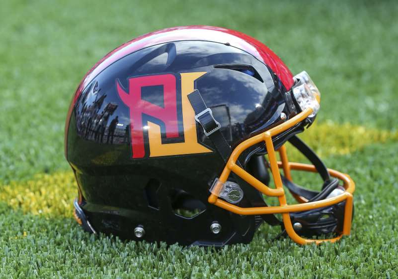 a close up of a helmet: The XFL's Los Angeles Wildcats did not draw a big crowd for their first home game.