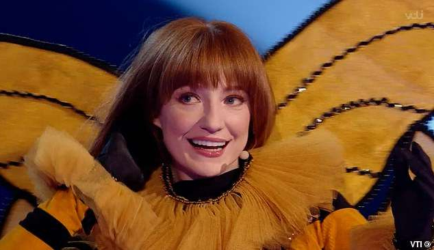 Nicola Roberts posing for the camera: It's her! Nicola Roberts has been revealed as Queen Bee, after she was crowned the winner of The Masked Singer UK