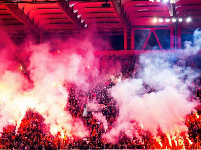 a lot of smoke around it: Olympiakos have only lost once at home in all competitions this season