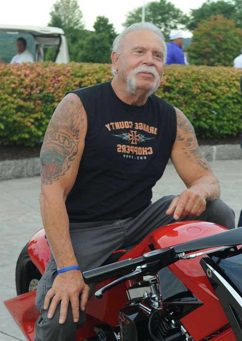 Paul Teutul Sr. sitting on a motorcycle: Paul Teutul Sr. attends the 9th Annual ETF golf invitational at Trump National Golf Club Westchester in Briarcliff Manor, New York, on Sept. 21, 2015.